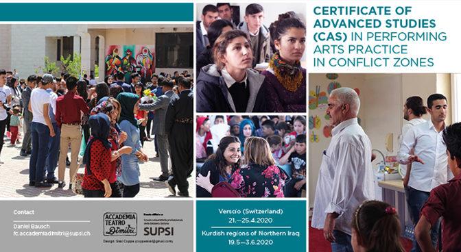 CAS Certificate of Advanced Studies Performing Arts in Conflict Zones